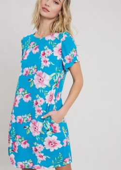 WATER COLOR FLORAL DRESS