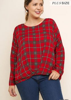 Red Plaid Curvy Top