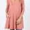 ASH ROSE 3/4 SLEEVE WEB DETAIL FRONT TUNIC