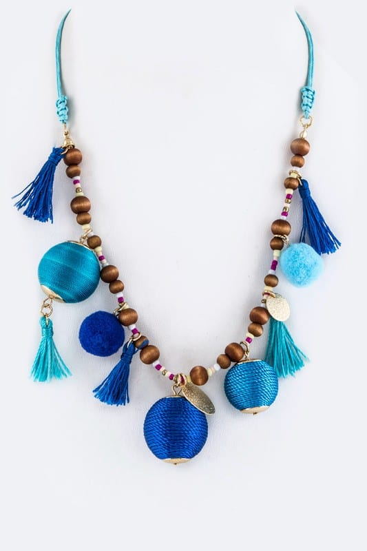 Tassel and Ball Necklace