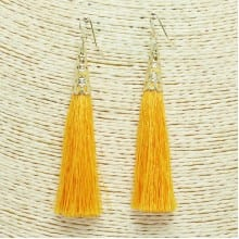 Yellow Tassel and Earring Set