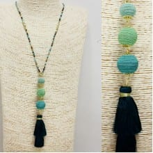 Teal Green and Navy Necklace