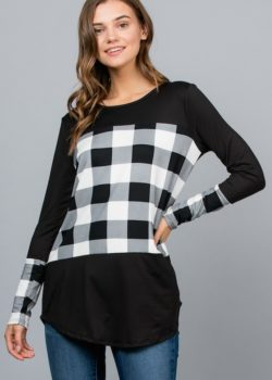 BUFFALO PLAID IN WHITE AND BLACK
