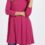 MAGENTA 3/4 SLEEVE SWING TUNIC WITH SIDE POCKETS
