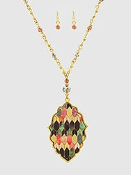Geometric Moroccan Necklace set